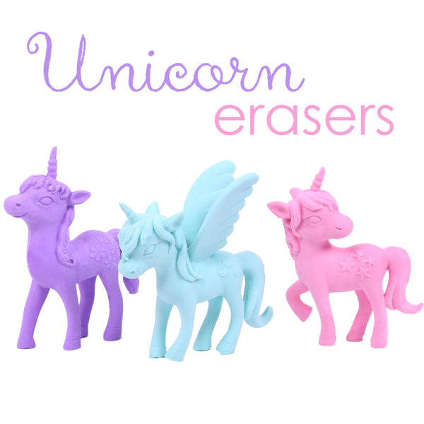 These unicorn erasers are perfect for school, planning, for work, home, desk, gifts, birthday party, favor or just around the house.
