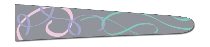 Ribbons (Grey/Aqua) - Upscale Eyes