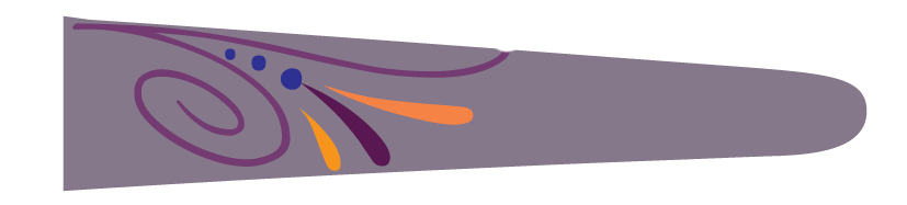 Floral (Lavender/Orange) - Upscale Eyes