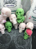 Peppermint cream mini skull wax melts Christmas Yule  gift present