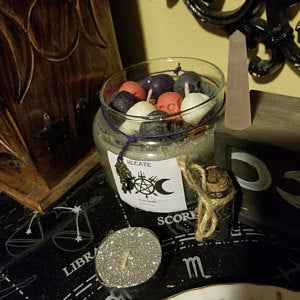 Hecate candle wax melts tarts witchcraft gift present wicca pagan