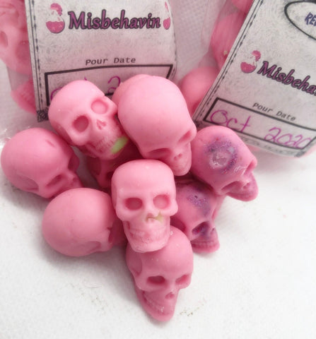 Misbehaving mini skull wax melts brat ddlg tarts