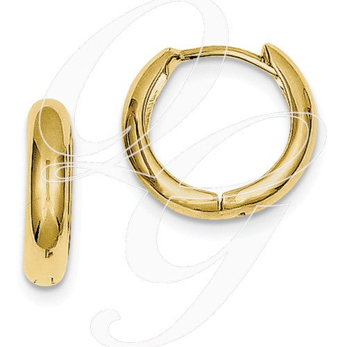 10k Polished Hinged Hoop Earrings