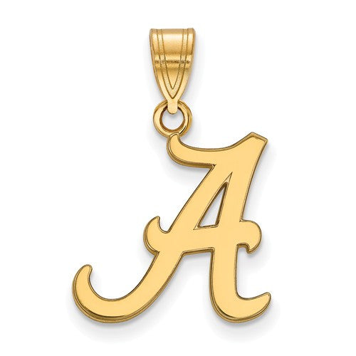 Sterling Silver w/GP LogoArt University of Alabama Medium Pendant