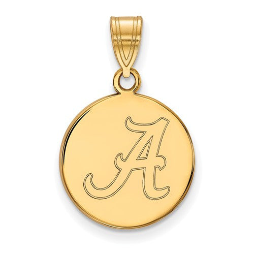 14ky LogoArt University of Alabama Medium Disc Pendant