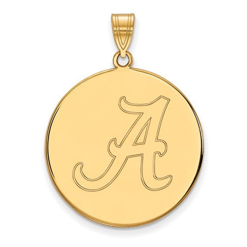 14ky LogoArt University of Alabama XL Disc Pendant
