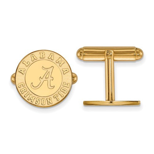 Sterling Silver w/GP LogoArt University of Alabama Cuff Link