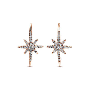 14k Pink Gold Starlis Drop