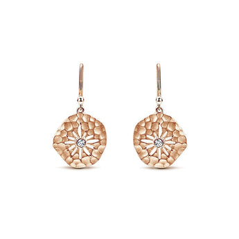 14k Pink Gold Souviens Drop