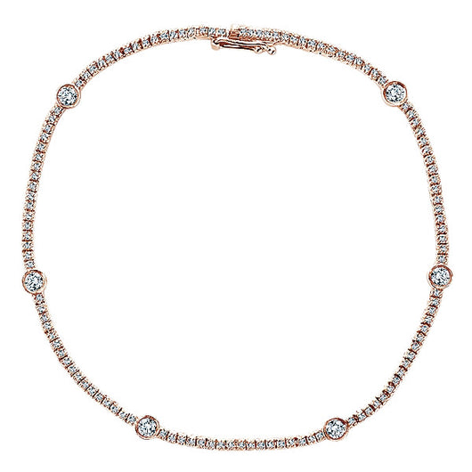 14k Pink Gold Lusso Diamond Tennis