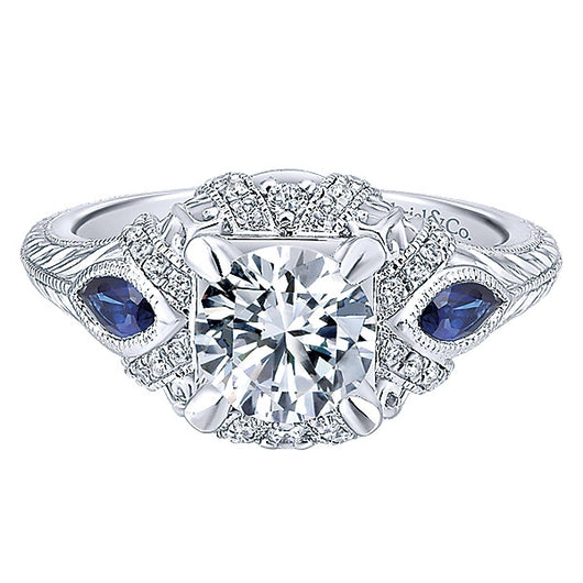 Copy of 14k White Gold Empire Semi-Mount Engagement Ring