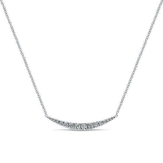 14k White Gold Indulgence Bar Necklace