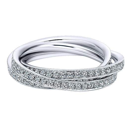 14k White Gold Victorian Eternity Band Anniversary Band