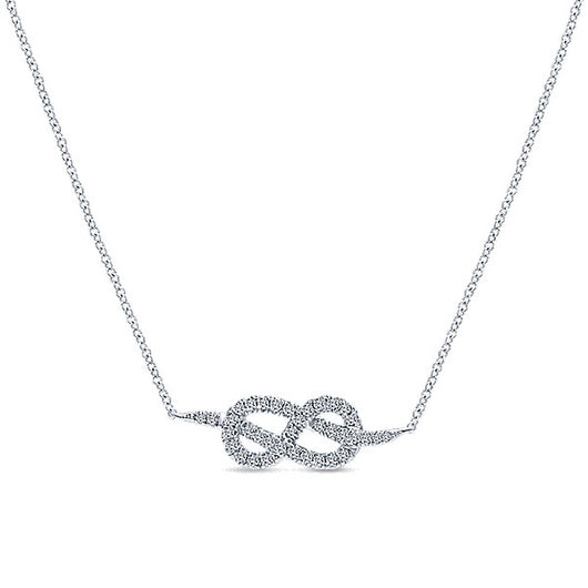 14k White Gold Eternal Love Fashion Necklace