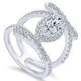 14k White Gold Nova Semi-Mount Engagement Ring