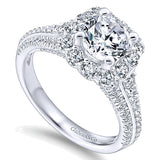 14k White Gold Entwined Semi-Mount Engagement Ring