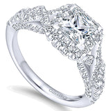 14k White Gold Infinity Semi-Mount Engagement Ring