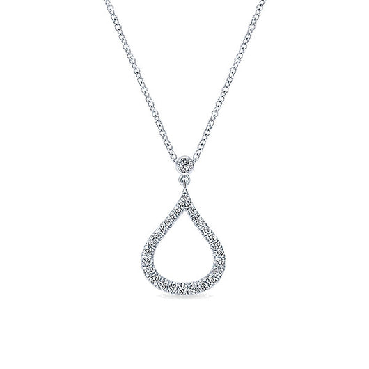 14k White Gold Lusso Diamond Fashion Necklace