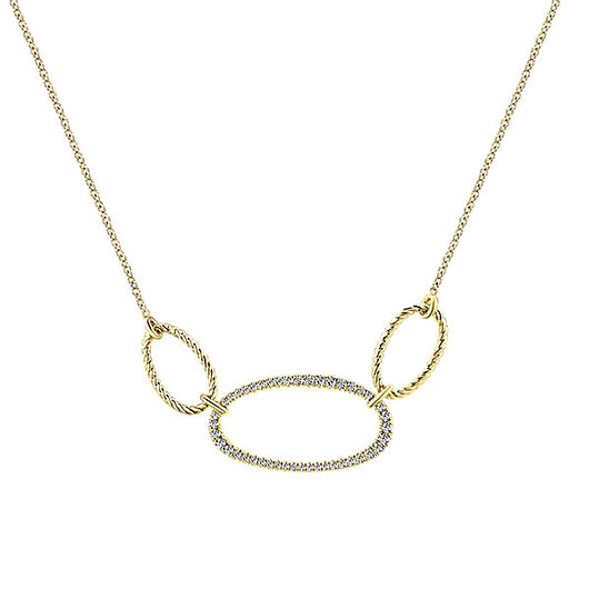 14k Yellow Gold Hampton Fashion Necklace