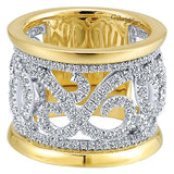 14k Yellow/white Gold Contemporary Fancy Anniversary Band