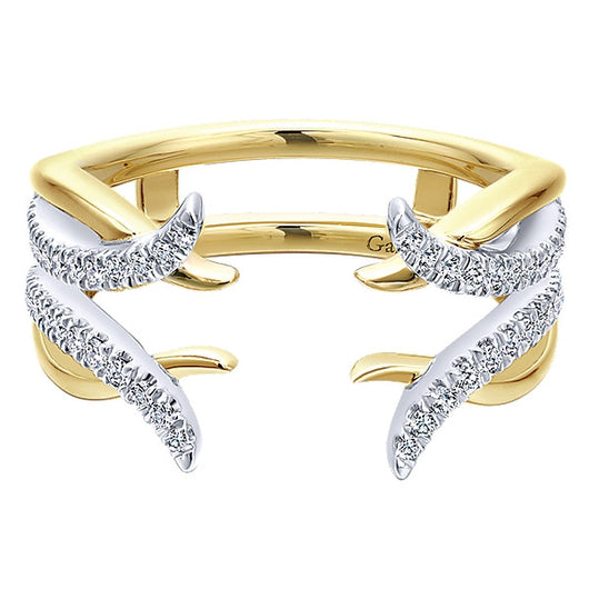 14k Yellow/white Gold Contemporary Jacket Anniversary Band