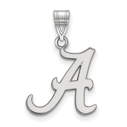 Sterling Silver LogoArt University of Alabama Medium Pendant