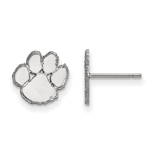 Sterling Silver LogoArt Clemson University XS Post Earrings