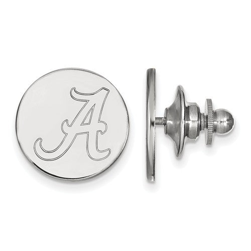 Sterling Silver LogoArt University of Alabama Lapel Pin