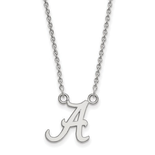 Sterling Silver LogoArt University of Alabama Small Pendant w/Necklace