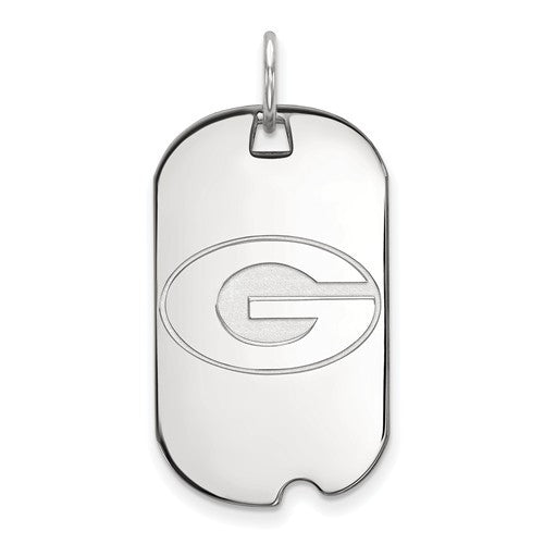 Sterling Silver LogoArt University of Georgia Small Dog Tag