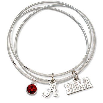 UNIV OF ALABAMA TRIPLE BANGLE BRACELET