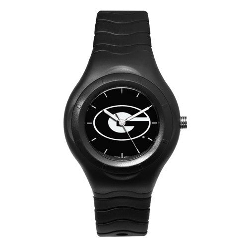 UNIV OF GEORGIA SHADOW BLACK SPORT WATCH WITH WHITE LOGO
