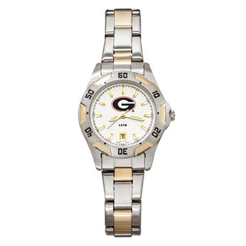 UNIV OF GEORGIA ALL-PRO WOMEN'S TWO-TONE WATCH W/BRACELET