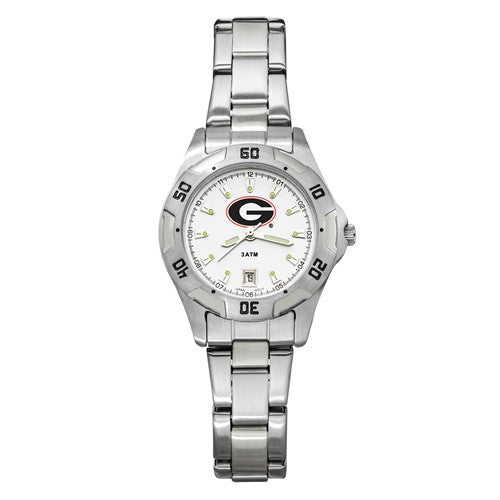 UNIV OF GEORGIA ALL-PRO WOMEN'S CHROME WATCH W/BRACELET