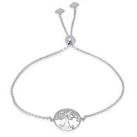 Ladies Sterling Silver Tree Of Life Bolo Bracelet/XBR-124-SS