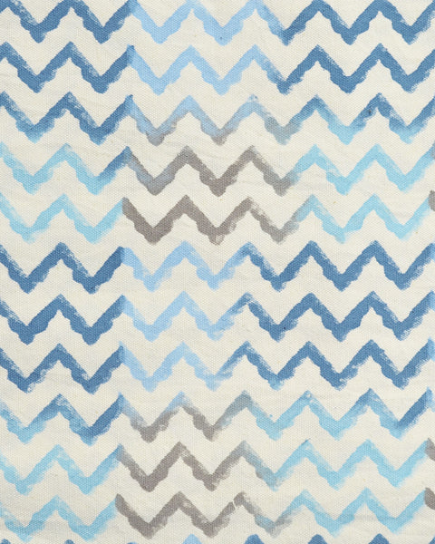 Hand Block Printed Waves Print Table Mats - Set of 6
