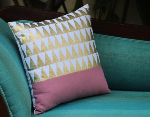 Gold Foil Cushion Cover