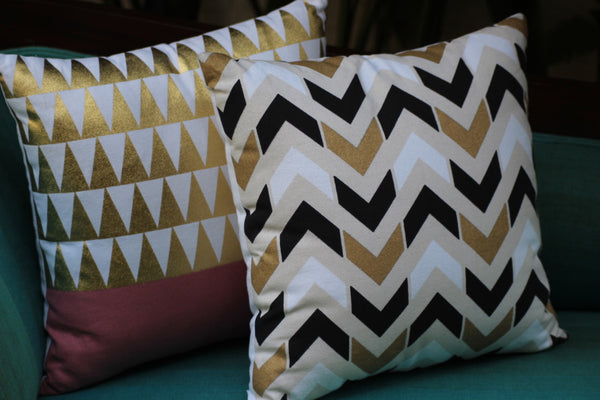 Gold Metallic Cushion Cover