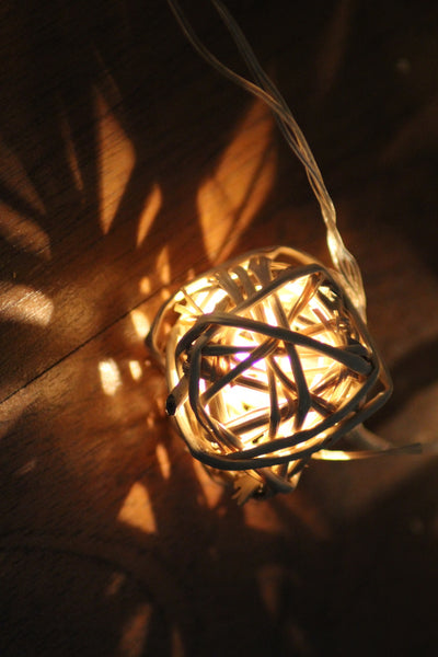 Handmade Cane Ball Lights