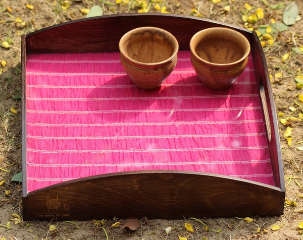 Birch Wood Fabric Tray