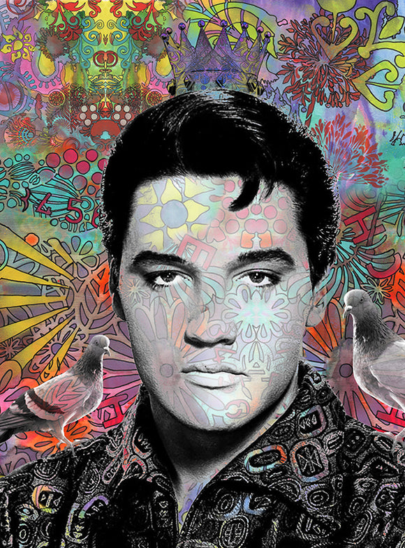 King Elvis Fine Art Print