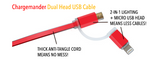 Chargemander Dual-Head USB Charging Cable
