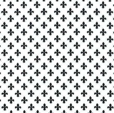 Black and White Patchwork Fabric