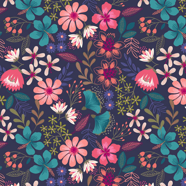 Floral Patchwork Fabric