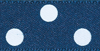 Polka Dot Ribbon Navy Blue - The Fabric Bee