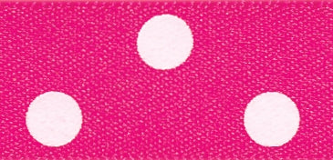 Polka Dot Ribbon Bright Pink - The Fabric Bee