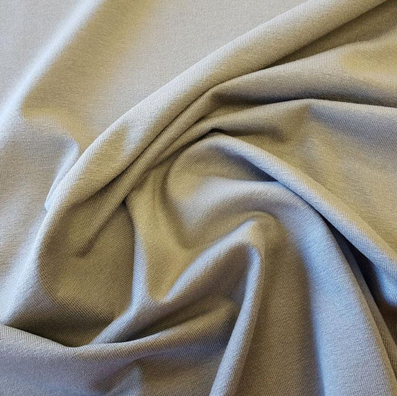 Grey viscose jersey material, plain grey stretch material