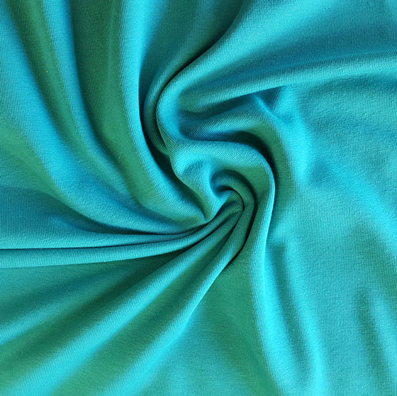 Jersey Fabric Plain Turquoise - The Fabric Bee
