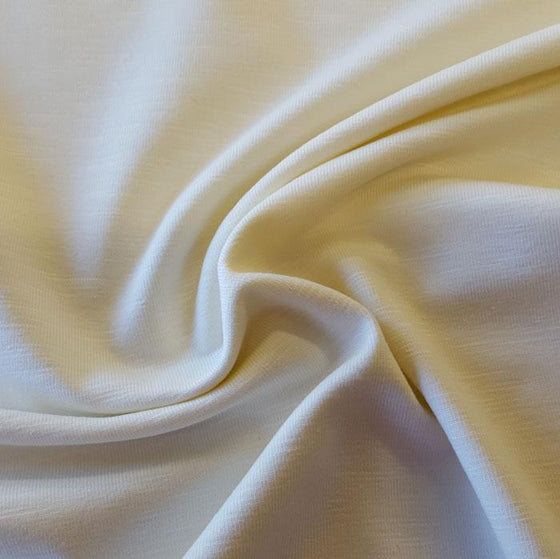 Jersey Fabric Plain Ivory - The Fabric Bee