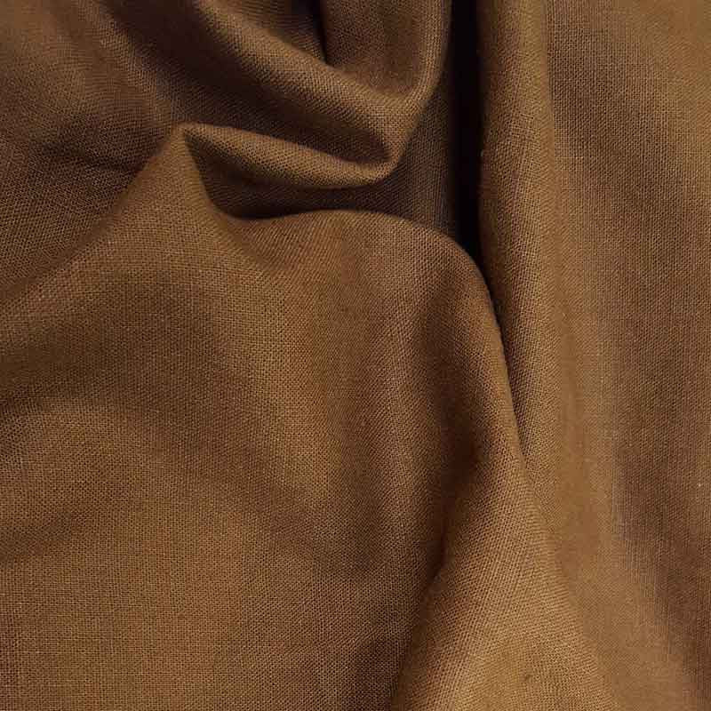 Linen Fabric Brown 1847/17 - The Fabric Bee